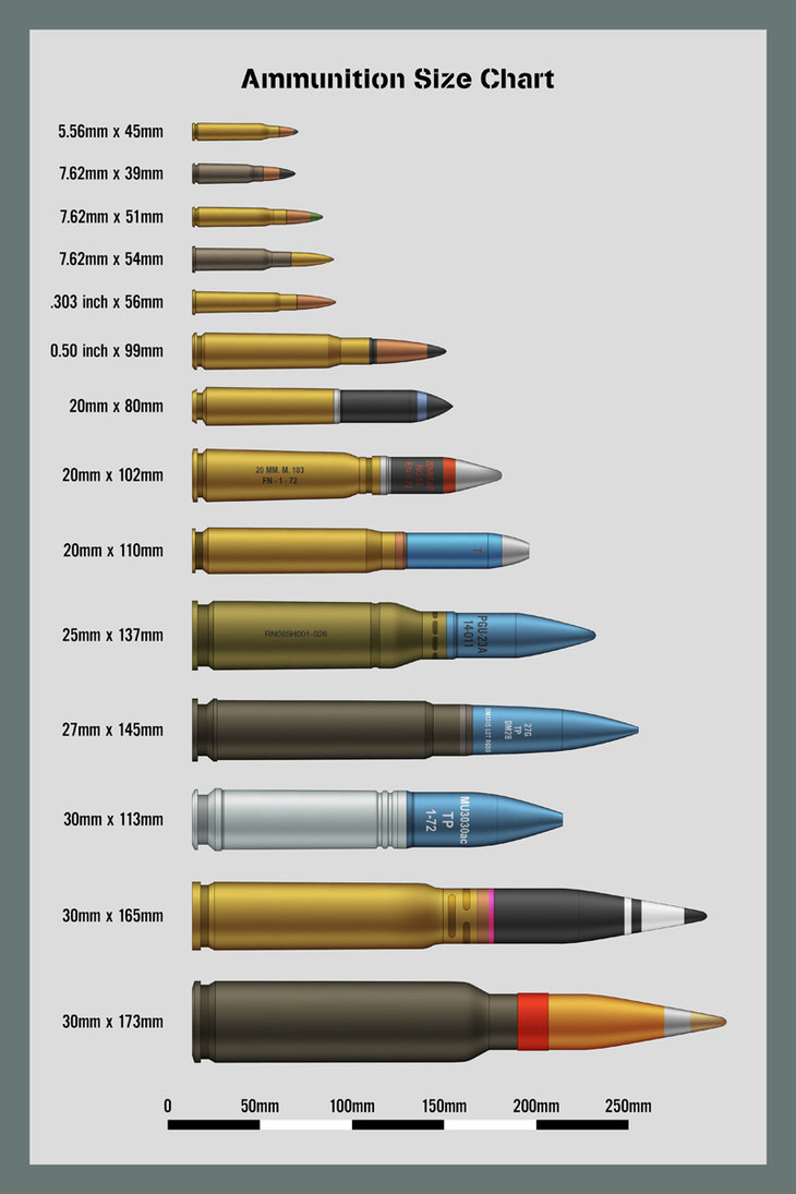 Vintage Outdoors  Ammo Size Comparison Charts