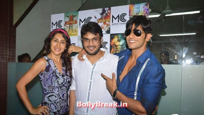 Teejay Sidhu, Mukesh Chhabra and Karanvir Bohra, Shradha  & Aditi at Mukesh Chhabra Casting Studio Launch