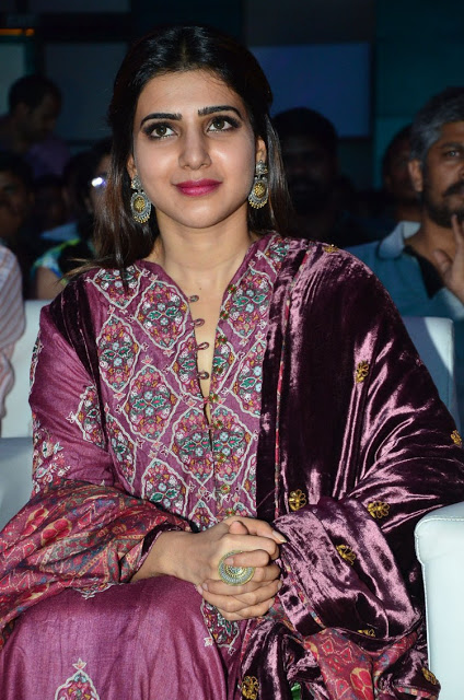 Samantha Ravishing in Rahul and Shika Floor Length Anarakli Suit