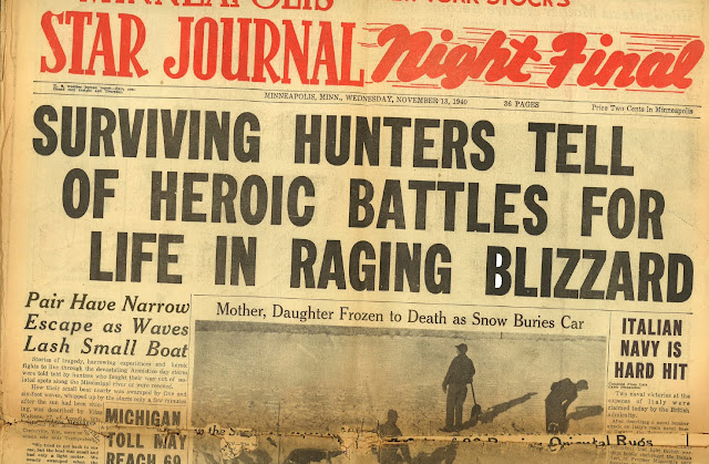 13 November 1940 worldwartwo.filminspector.com blizzard Minneapolis Star Journal
