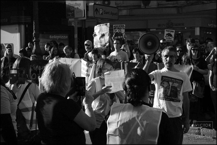 animalista,protesta,fotografía,manifestación,valencia,toros
