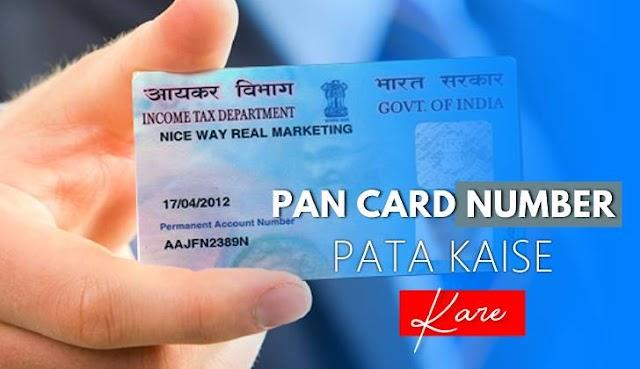 Pan Card ka Number Kaise Pata Kare - Pan Card Status