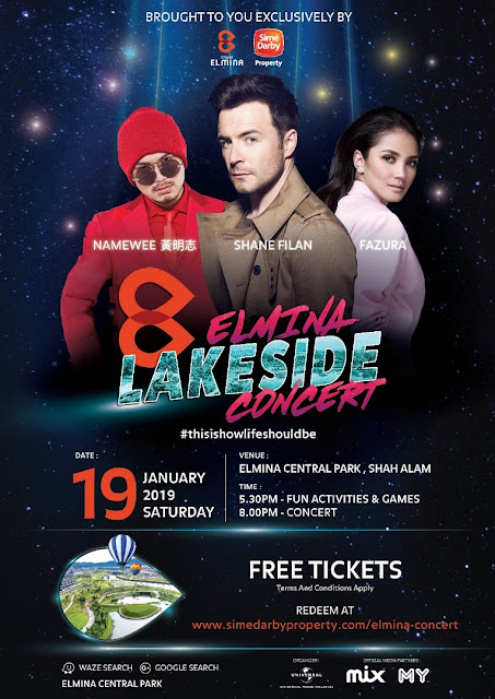 City of Elmina – Elmina Lakeside Concert 2019 Shane Filan Namewee Fazura