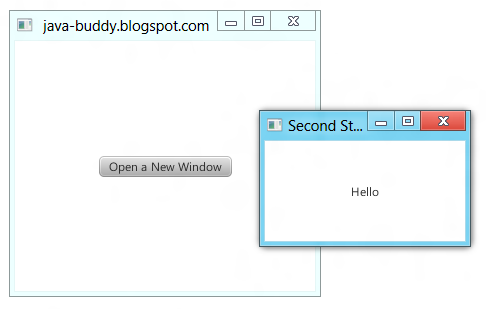 java tutorials: Open new window in JavaFX 2