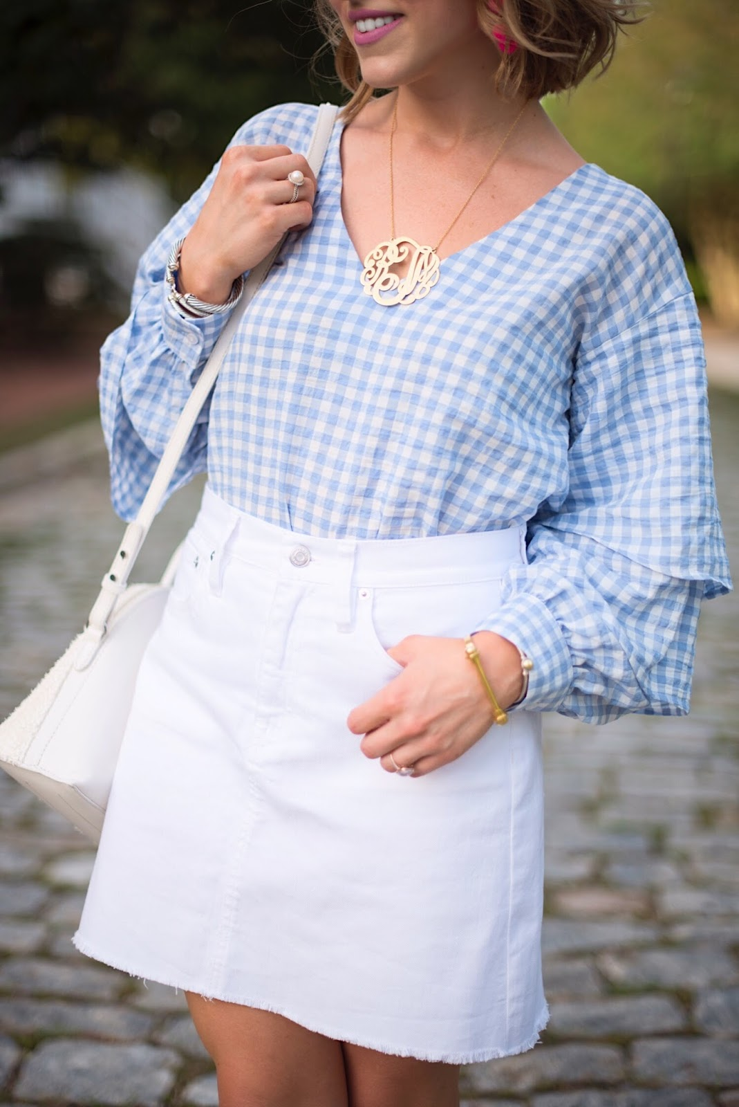 Blue and white gingham - Click through to see more on Something Delightful Blog