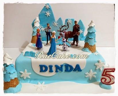 Frozen Cake For Dinda Kue Ulang Tahun Birthday Cake