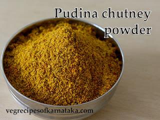 Pudina chutney pudi recipe in Kannada