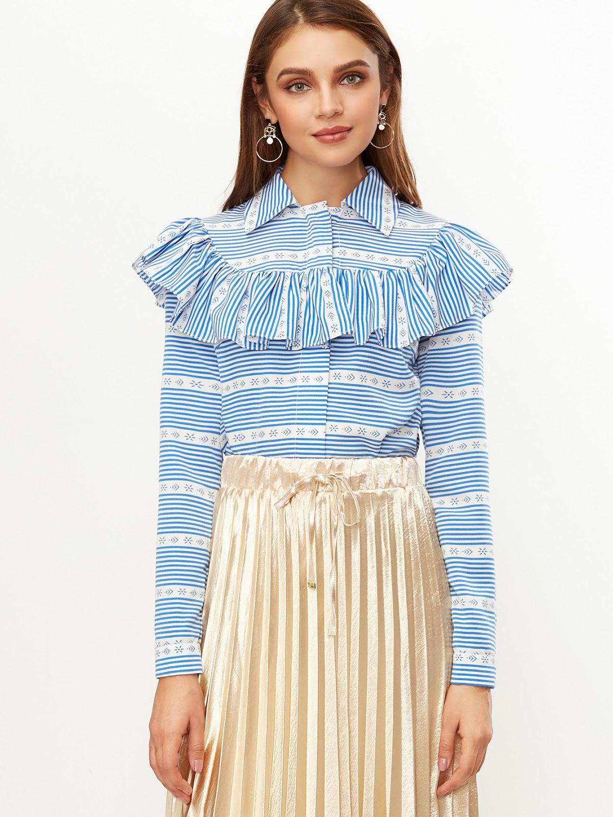 affordable ruffle shirt