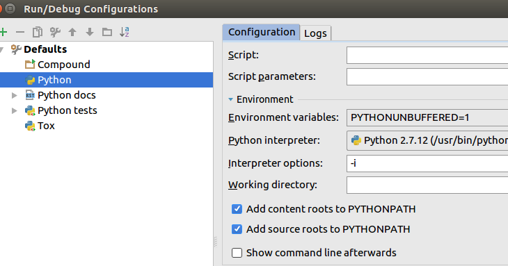 Enable Python interactive console in PyCharm