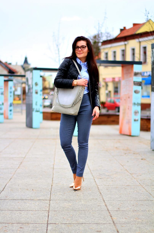 nobo, tzl, pantofelek, szpilki, złote, new look, dopasowane spodnie, eleganckie spodnie, materiałowe spodnie, koszula, mohito, zara, fashion,