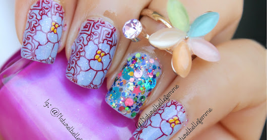 Abstract floral nails