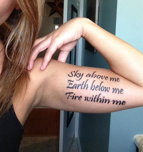 Best Inspirational Tattoo Quotes Ideas