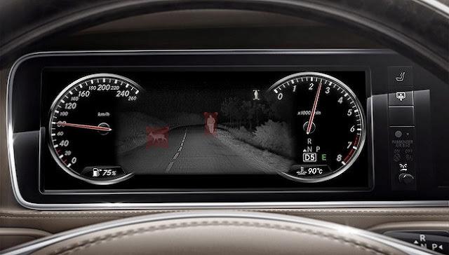 Mercedes S400 4MATIC Coupe 2017 được trang bị Hệ thống hỗ trợ quan sát ban đêm Night View Assist Plus