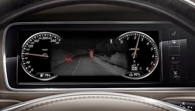 Mercedes S450 4MATIC Coupe 2019 được trang bị Hệ thống hỗ trợ quan sát ban đêm Night View Assist Plus