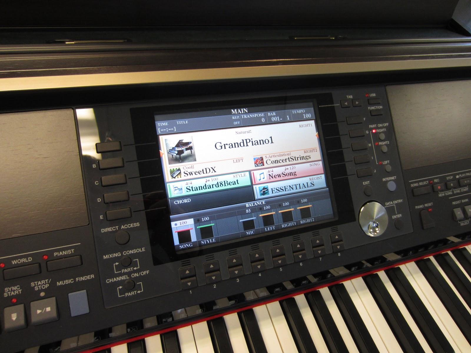Az piano reviews review yamaha cvp 501 503 505 509 for Yamaha clavinova cvp 601