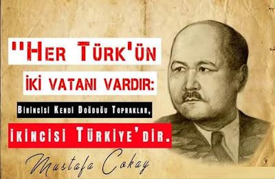 türk, vatan, doğu türkistan, mustafa çokay, güzel sözler, özlü sözler, anlamlı sözler