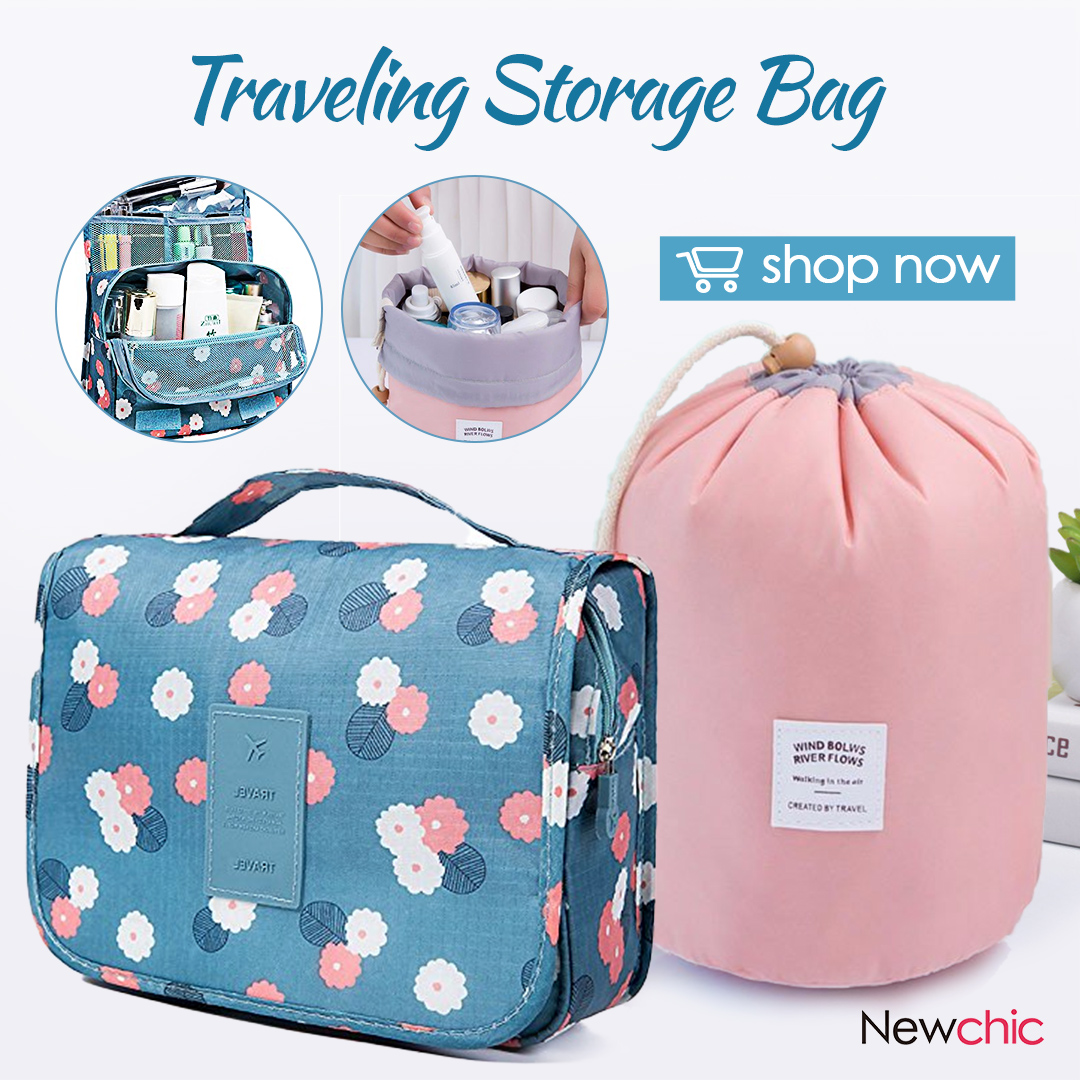 Cute Disigner Handing Travel Cosmetic Bags