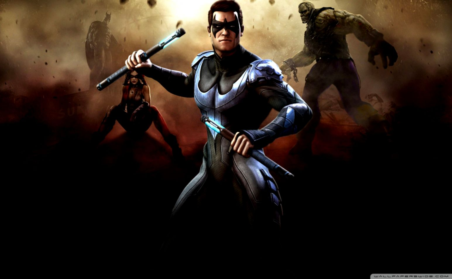 Injustice Gods Among Us Nightwing Artwork Wallpapers