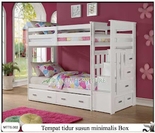 Tempat tidur susun minimalis cherry