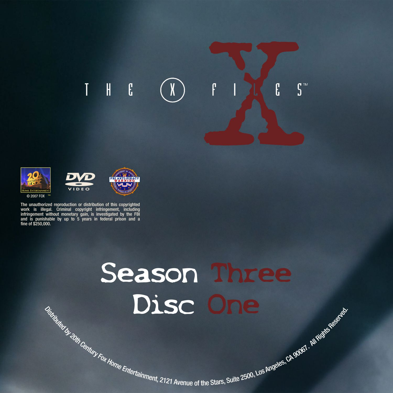 The X Files Season 3 DVD Label Disc 1-7