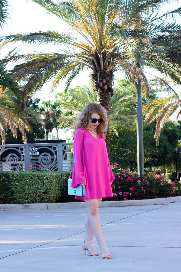 Topshop Flute Sleeve Shift Tunic Dress