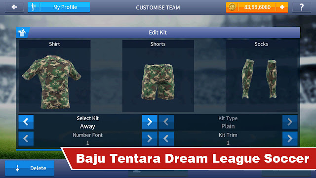 Baju tentara dream league soccer