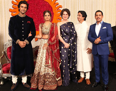 Robert and Priyanka Vadhra in Kunal Naina reception