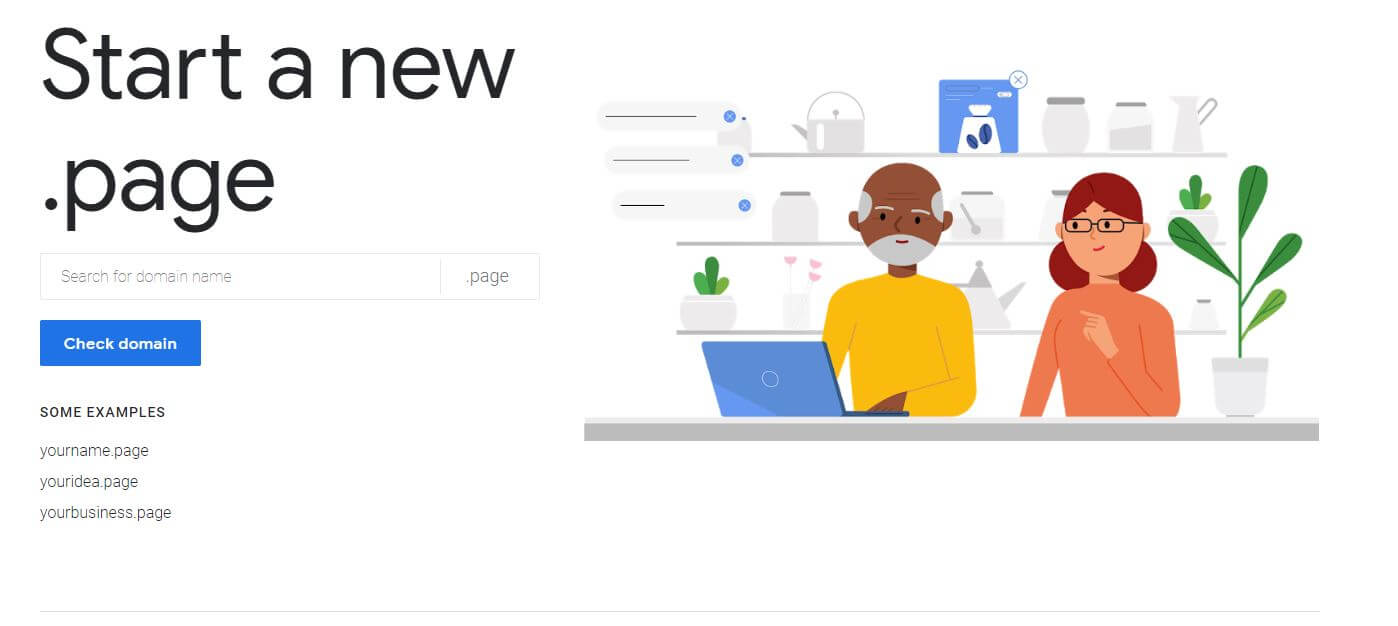 google will offer.page domains on godaddy