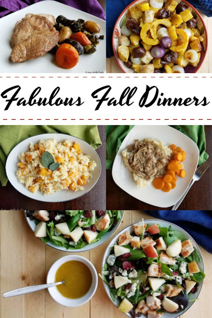 I have compiled some of my family's favorite fall dinner recipes. This collection of entrees and sides are perfect for your dinner table this autumn.