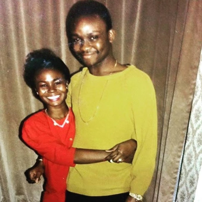 Governor Fayose with his wife in 1988(photo)