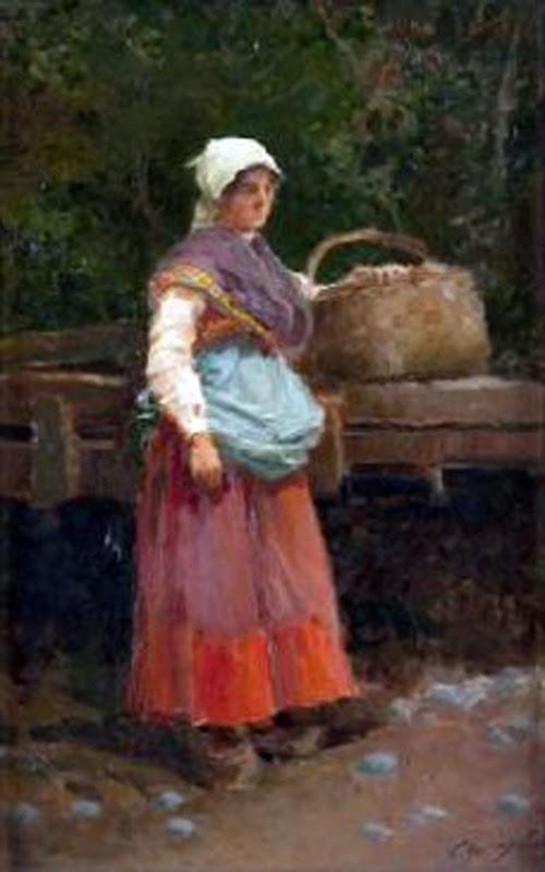 La Asturiana, Enrique Martínez Cubells, Mujeres bretonas, Pintor español, Pintores españoles, retratos de Enrique Martínez Cubells, Pintores Valencianos
