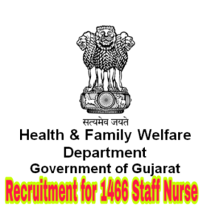 Commissioner Of Health, Medical and Medical Education (Medical Services) Recruitment for 1466 Staff Nurse Class-III Posts