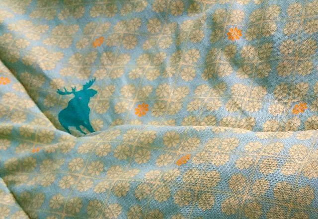 Late in Summer modern Snowball block quilt Puppilalla Design green blue