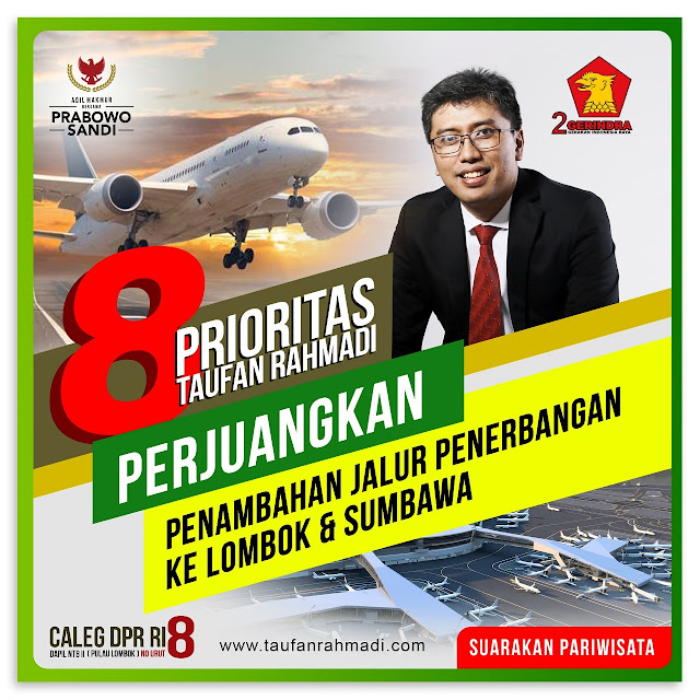 Perkuat Pariwisata NTB, Penting Penambahan Jalur Penerbangan