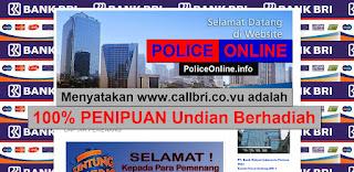www.callbri.co.vu 100% PENIPUAN Undian Berhadiah Bank BRI
