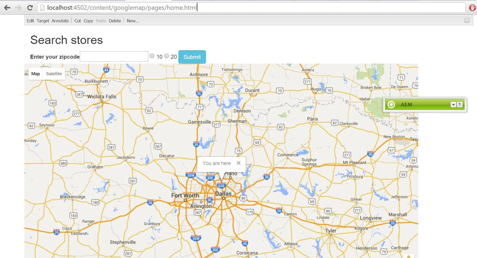 Integrate Google-Map API library with Adobe CQ ~ Think and