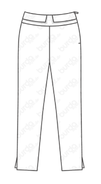 Tracing and marking a pair of pants from December Burda