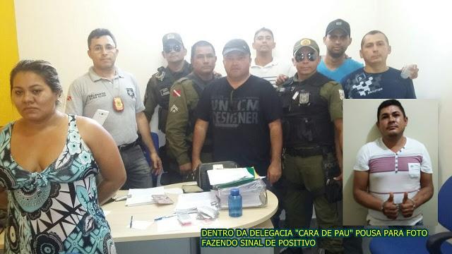 """Monte Alegre/PA:Cara de """"Madeira"""" preso pelas policiais civil e Militar,  AINDA faz pose  para tirar fotos ."""