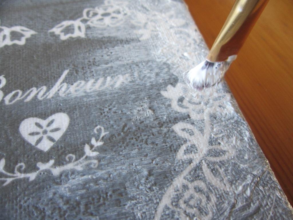 Zeer Zelf dingen maken: Zelf met servetten een schilderij maken (DIY  &UA57