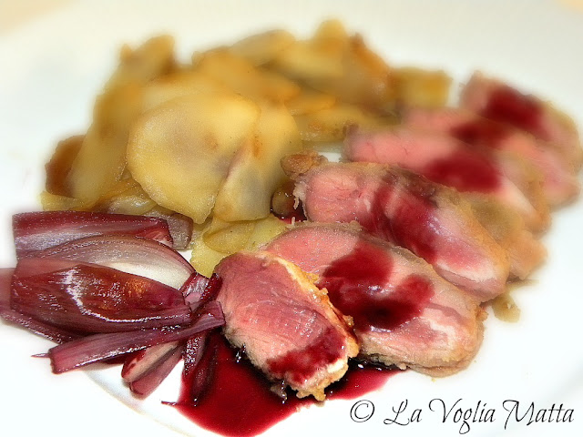 Guancia di maiale con scalogno e riduzione di Cabernet Sauvignon