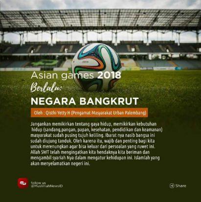 Asian Games 2018 Berlalu, Negara Bangkrut