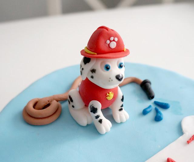 paw patrol cake marshall cake