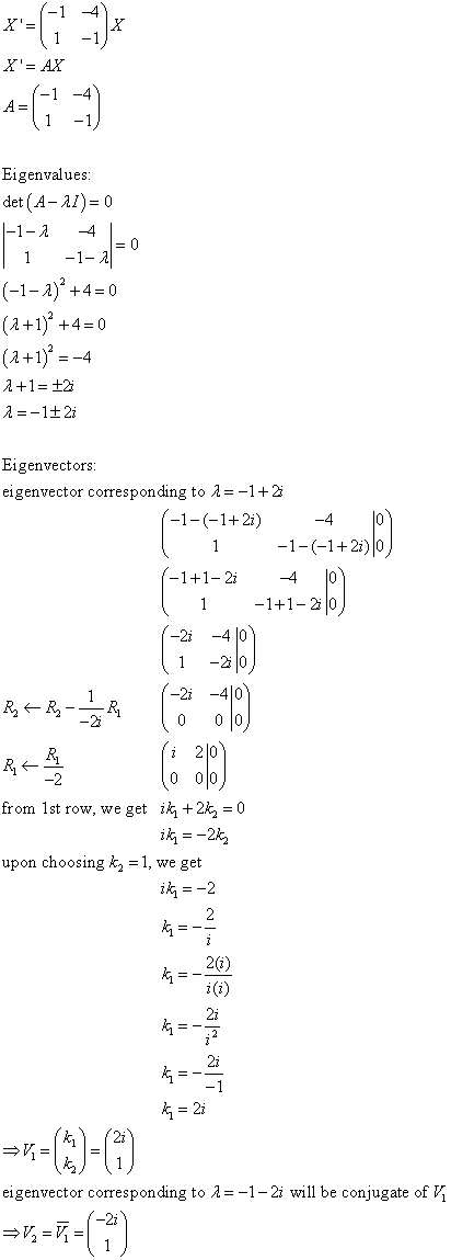 Differential Equations Solved Examples