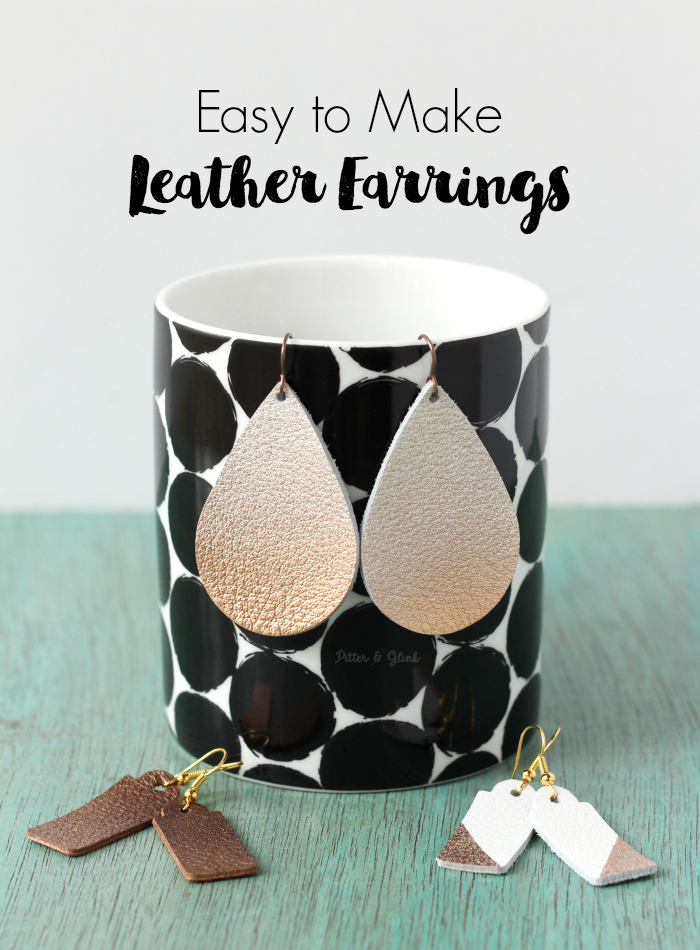 Easy-to-Make Leather Earrings