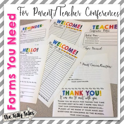 Parent Conference Freebie: Sign-In and Sign Up Pages