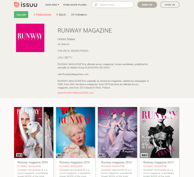 Runway Magazine at Issue