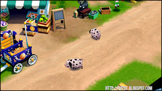 FarmVille 2: Country Escape,market stall, horse carriage, pigs walking