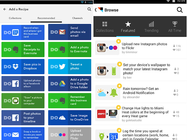 IFTTT best android app