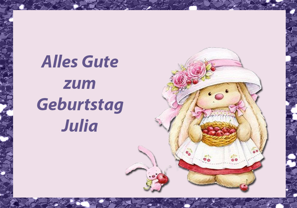 Alles Gute Zum Geburtstag Julia