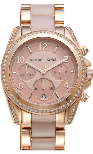 Michael Kors 'Blair' Crystal Bezel Two-Tone Bracelet Watch, 39mm